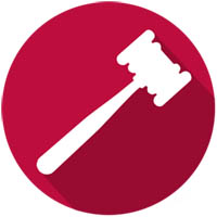 gavel image with burgundy background