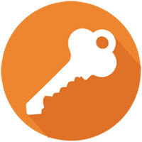 key image with orange background